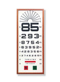 Eye testing chart. With timber border Stock Photo