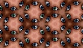 Eye Tile Pattern Royalty Free Stock Photos