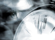 Eye on time Royalty Free Stock Photos