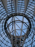 Eye to the sky. Structual support to Potsdamer Platz in Berlin royalty free stock photo
