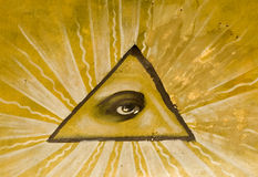 Eye on triangle Royalty Free Stock Image