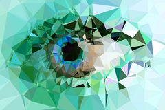 Eye triangles design Stock Images