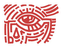 Eye tribal Stock Images