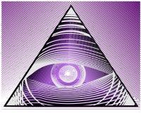 Eye of true. Eye of truth illustration grey Stock Images