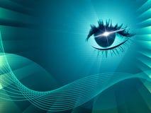 Eye Twirl Indicates Light Burst And Artistic Stock Image