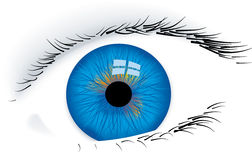 Eye (vector). Vector in CMYK mode. Global colors. Easy color changes Stock Photos