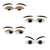 Eye vector with different moods on a white background Royalty Free Stock Images