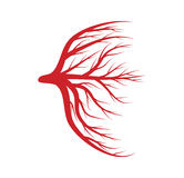 Eye veins, blood, vessels vector symbol icon design. Beautiful illustration  on white background Stock Photos