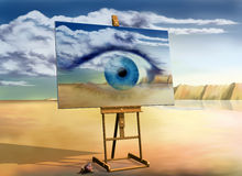 An eye with a view Royalty Free Stock Photo