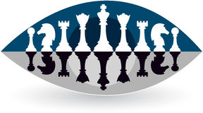 Eye view chess logo Royalty Free Stock Photography