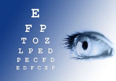Eye vision test Royalty Free Stock Photos