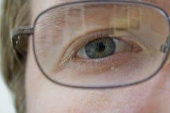 Eye w/Glasses Royalty Free Stock Photography