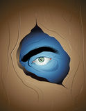Eye In The Wall Royalty Free Stock Photo