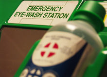 Eye wash station. First aid eye wash station Royalty Free Stock Photos