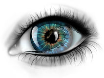 Eye with water Royalty Free Stock Photography