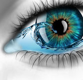 Eye with water Royalty Free Stock Photos