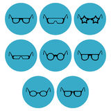 Eye-wear icon designs Stock Photos