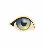 Eye on white background. Eyes art. Woman eye. The eye logo. Eyes art. Royalty Free Stock Image