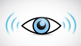 Eye wifi illustration design Royalty Free Stock Photo