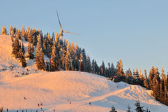 The Eye of the Wind and Grouse Mountain Ski area Stock Image