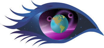 Eye, the window to the universe Stock Images