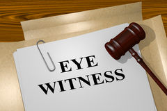 Eye Witness - legal concept Royalty Free Stock Photos