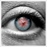 Eye Works. An eye with fireworks inside Royalty Free Stock Image