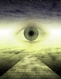 An eye on the yellow brick road Royalty Free Stock Images