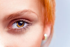 Eye of young beautiful woman Royalty Free Stock Photos