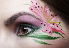 Eye zone body art Stock Images