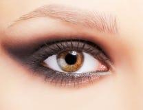 Eye zone make up Stock Photos