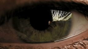 Eye zoom in stock video footage