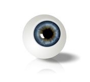 Eyeball. On white background  - computer generated  for your projects Stock Images