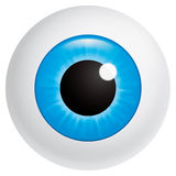 Eyeball. Vector illustration (EPS 10,includes transparency and mesh) Blue eyeball looking at spectator Stock Photos