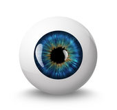 Eyeball. With shadow on white background Royalty Free Stock Photos