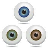 Eyeball. Illustrated eyeballs in blue, green and brown Royalty Free Stock Photos