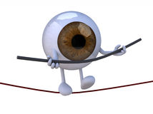 Eyeball acrobat who walks on a wire Royalty Free Stock Image