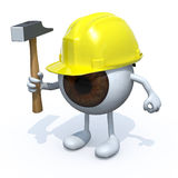Eyeball with arms, legs, worker Stock Photo