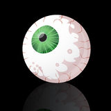 Eyeball on black Stock Photography