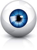 Eyeball. Blue eyeball icon. Illustration contain transparencies and is saved as Illustrator 10 format Stock Images