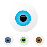 Eyeball with blue and turquoise colored iris, that Stock Images