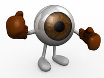 Eyeball with boxing gloves fighting, 3d illustration Stock Photo