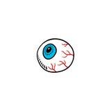 Eyeball cartoon. On white background Stock Photography