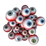 Eyeball Cluster, Creepy cluster of bloody halloween eyeballs stock photo