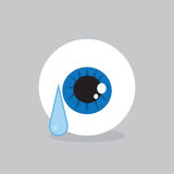 Eyeball Crying Royalty Free Stock Photography