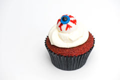 Eyeball cup cake Royalty Free Stock Images