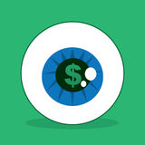 Eyeball Dollar Sign Stock Image