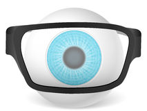 Eyeball with glasses Stock Image