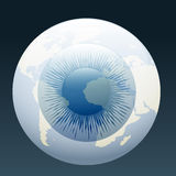 Eyeball globe Stock Image