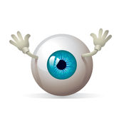 Eyeball with hands!  Royalty Free Stock Photography
